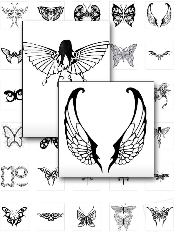 Tribal Butterfly Tattoos|Tribal Butterfly Tattoo Designs|Butterfly Tattoo