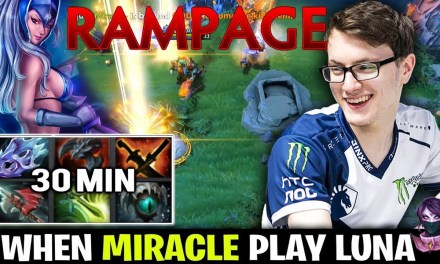 MIRACLE- Luna CRAZY 2xRAMPAGE Highlights by Time 2 Dota #dota2