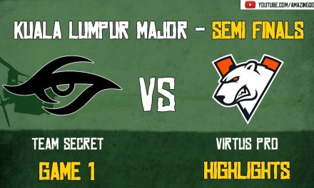 [Highlights] Team Secret vs Virtus Pro | GAME 1 | Kuala Lumpur Major | Semi – Finals | Amazing Dota
