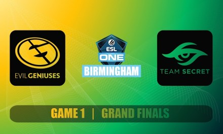 EG vs SECRET Grand Finals ESL One Birmingham Bo5 Game 1