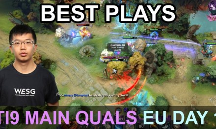 TI9 BEST PLAYS Main Quals EU DAY 1 Highlights Dota 2 by Time 2 Dota #dota2 #ti9