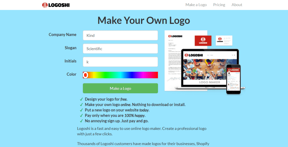 free online name logo maker and download