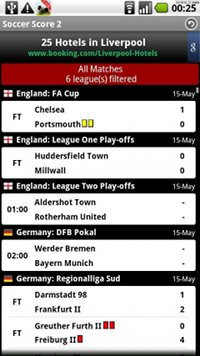 Fußball Ergebnisse 2 app android