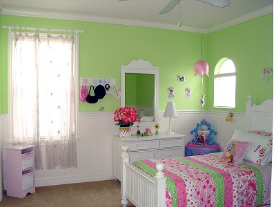 Girls Bedroom in Green  Pink  Kids Room Decorating Ideas  Dot Com Women