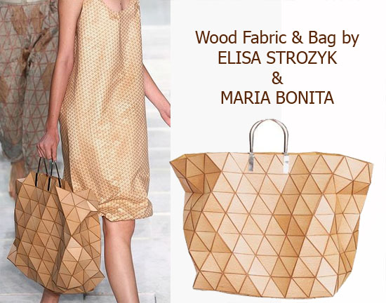 Wooden Bag and Dress by Elisa Strozyk & Maria Bonita