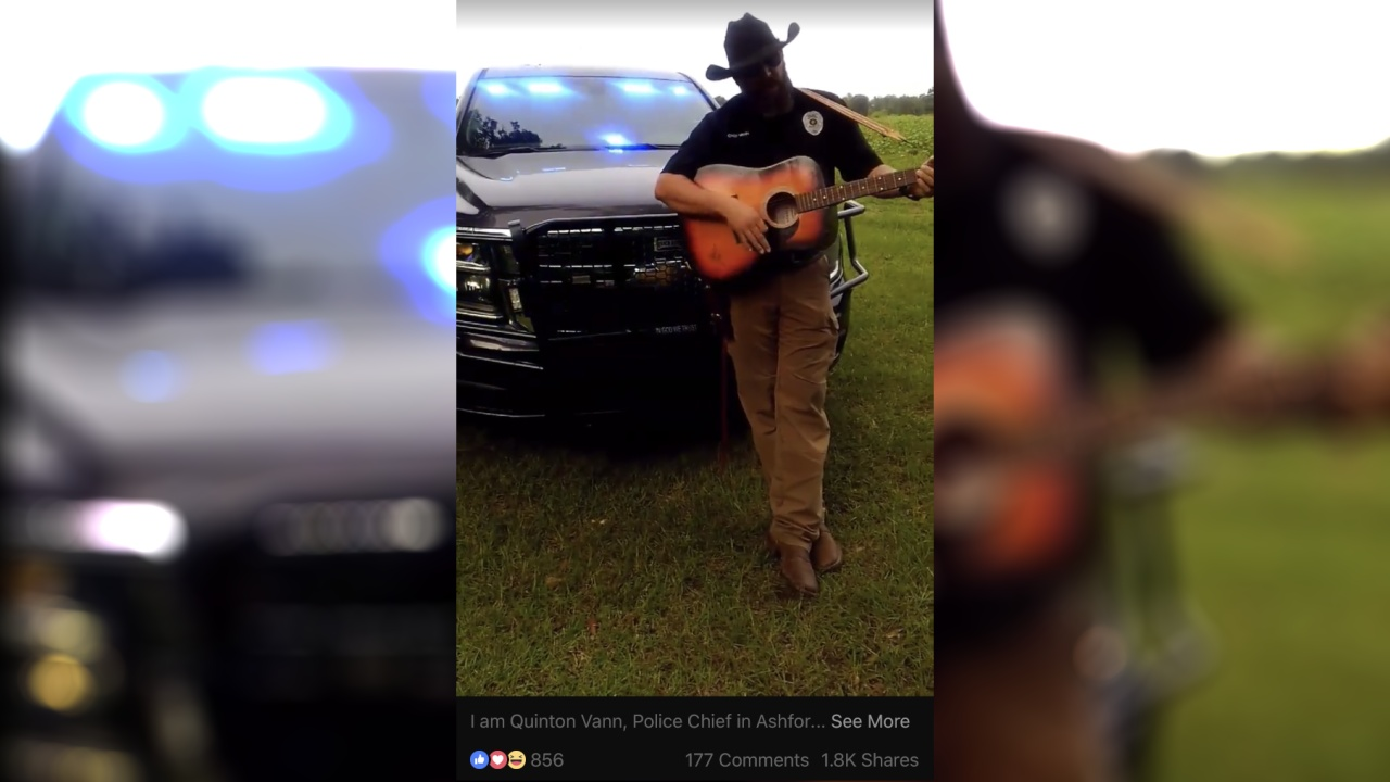 Ashford Police Chief goes viral after lip sync challenge