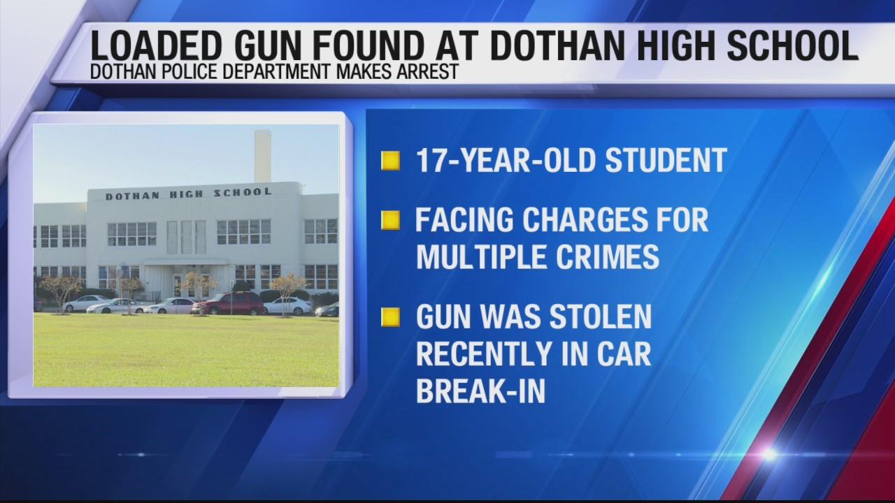 Gun found at Dothan High school