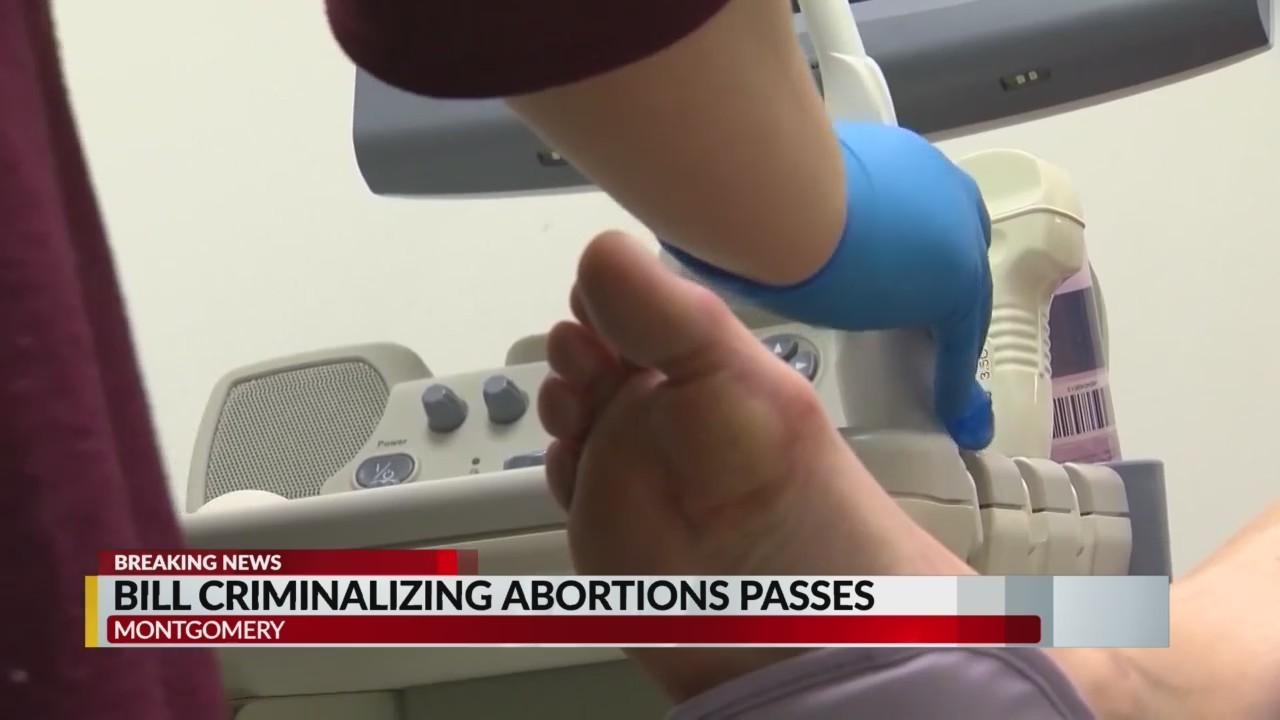 Alabama Senate passes bill criminalizing abortions 25 to 6