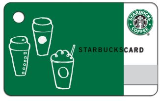 Gift card - starbucks