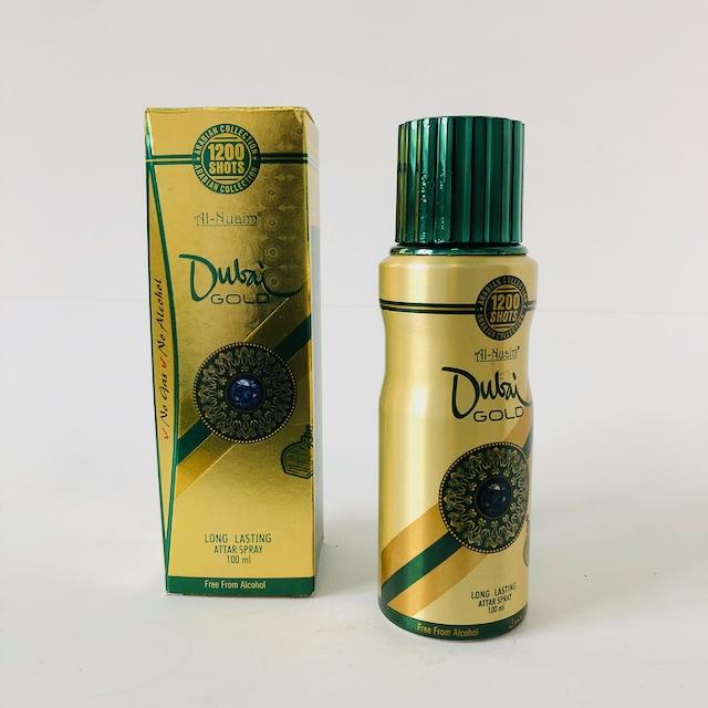 Al-Nuaim Dubai Gold Alcohol Free attar oil based perfume 100ml - DOT MADE