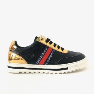 """""""Chrome"""" Gold & black sneakers - dot made"""