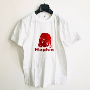 Napken White short sleeve round neck t-shirt