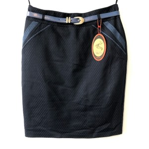 Miss A&ES Navy blue midi skirt