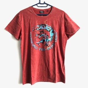 Diesel Red short sleeve round neck t-shirt