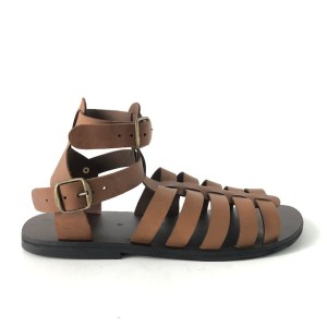 HULM Brown Genuine Leather sandals