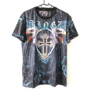 Kingz black short sleeve round neck t-shirt