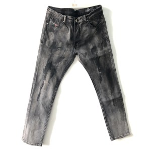Diesel DNA Black Sleenker Slim-Skinny denim stretch jeans