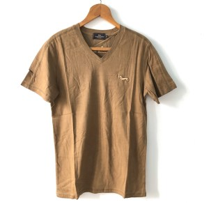 Harmont & Blaine brown short sleeve v-neck t-shirt