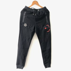 PHILIPP PLEIN Black Slim jogger sweatpants
