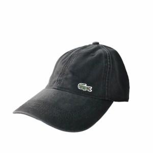 LACOSTE Black denim adjustable cap
