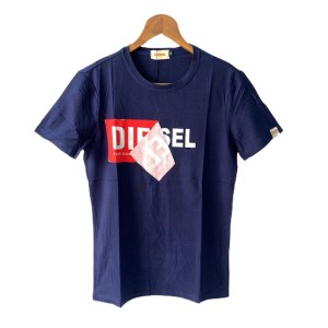 DIESEL Navy Blue short sleeve round neck t-shirt