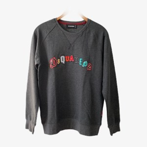 DSQ2 Grey round crew neck sweater - dot made