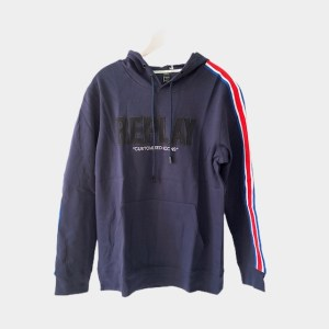 "REPLAY ""Customized icons"" navy blue hoodie - dot made"