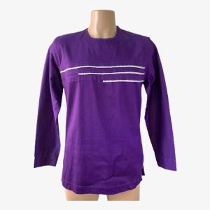 """""""White lines"""" purple dashiki shirt - dot made"""