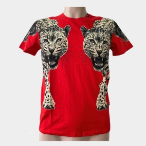 "PP ""Leopards"" red t-shirt - dot made"