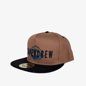 "Supercrew ""Mountains"" brown cap - dot made"