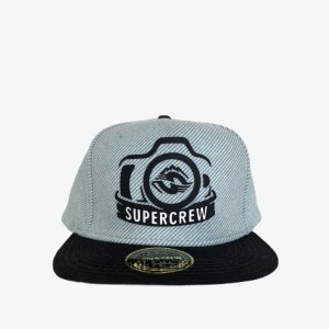 "SuperCrew ""Camera"" aqua cap – dot made"