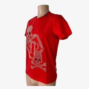 "PP ""Skulls & Bones"" red t-shirt – dot made"