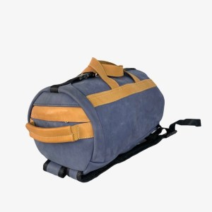 OB Steel blue leather duffle bag - dot made