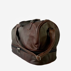 OB Classic choc-brown leather duffel bag – dot made