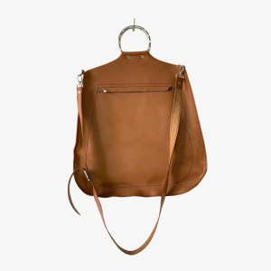 OB Caramel leather sling handbag – dot made