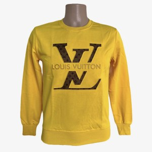 LV Crewneck yellow sweater