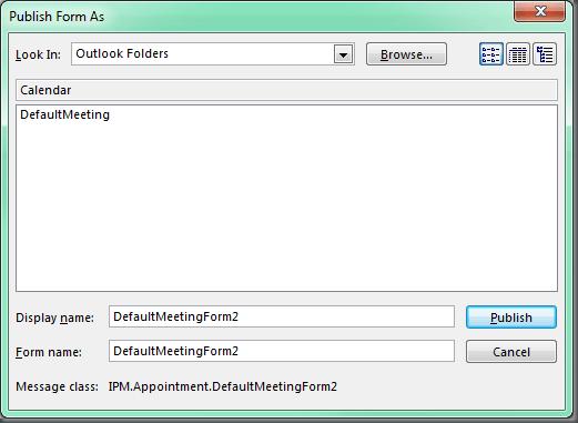 Outlook Tip: Set Default Meeting Template – DOTNET CATCH