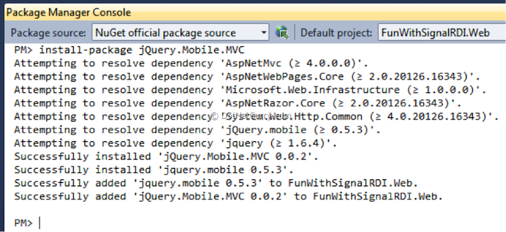 install-jquery-mobile-mvc-from-nuget