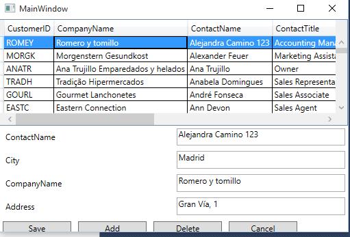 Add/Edit/Delete DataGrid