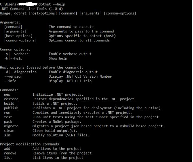 .NET Core CLI