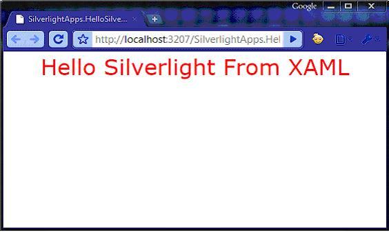 First silverlight application