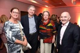 Evelyn Sacchetti, gerente experiencia en viajes Turavion; Alfonso Mena jefe de ventas corporativas, Travel Security; Victoria Carrasco, consultura de viajes de Carlson Wagonlit; Alfredo Babun, gerente general de Air Canada.