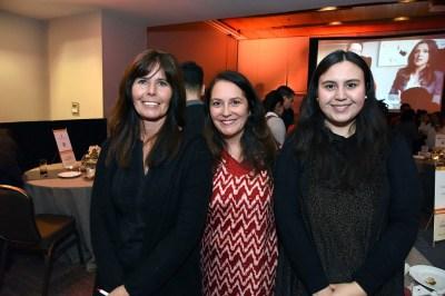 Claudia Aguirre directora de ventas Puyuhuapi Lodge; Lorena Gonzalez subgerente de viajes grupos vacionales Kuality, Natalia Ronlos, Puyuhuapi Lodge.