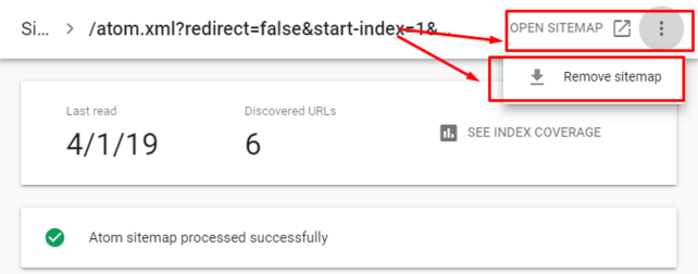How to Delete Sitemap in New Search Console