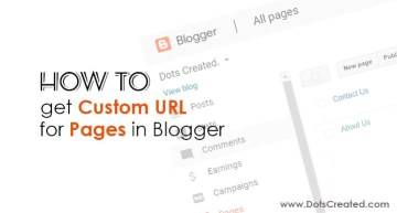 How to Setup Custom URL for Pages in Blogger - Dots-Created
