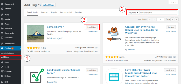 How to Install Plugin from WordPress Dashboard Search