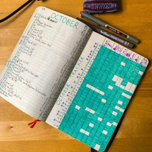 A Traditional Bullet Journal Monthly Log