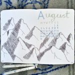 August 2020 Bullet Journal Setup Cover Page