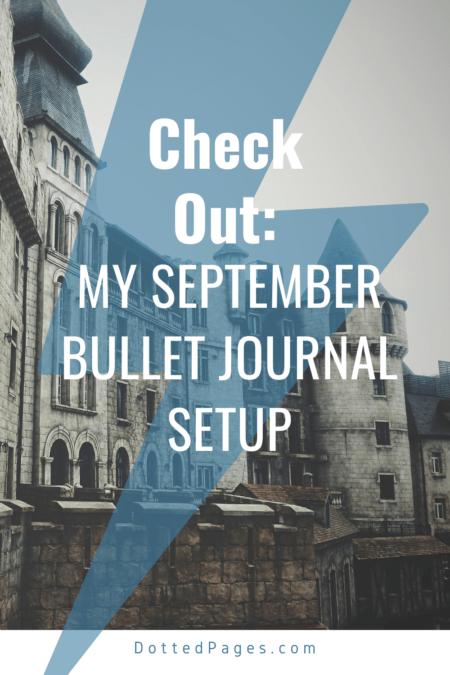 September Bullet Journal Setup