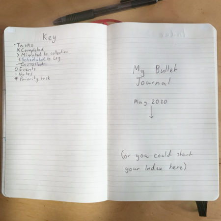 Simple Bullet Journal Setup Cover Page